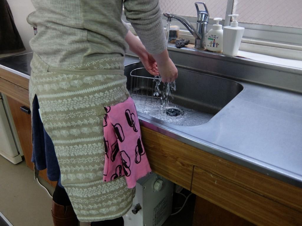 もちろんキッチン仕事の時は、手拭きとして大活躍!